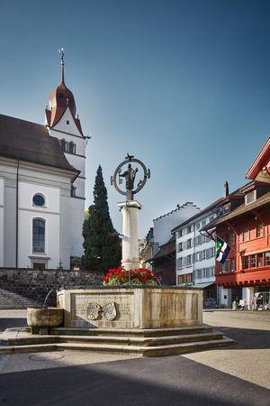 Die drei Stadtbrunnen im Städtchen Willisau